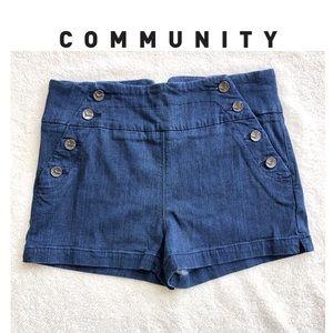 Aritzia Community High-waisted Retro Shorts